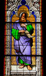 The Prophet Isaiah on church window of Dom in Cologne