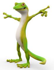gecko cartoon freestyle stand up