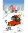 Snow, mountain, Cartoon, caricature, comic, fan