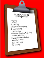 Business work checklist clipboard fabrication process