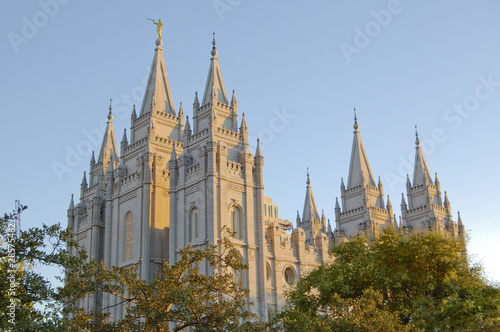 Mormon Temple in Salt Lake City Utah