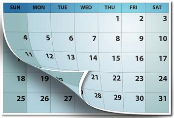 Pagina de Calendario Pasando