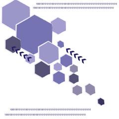 Blue polygon technology background