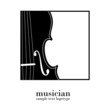 Logo music store. Musician # Vector