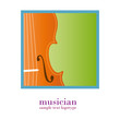 Logo music store. Musician # Color Vector