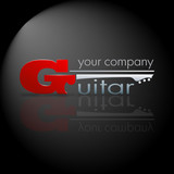 Logo Music Store . The Guitar # Vector