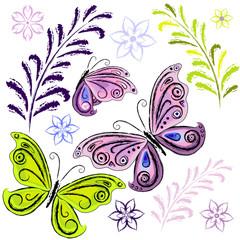 Set butterflies and butterflies