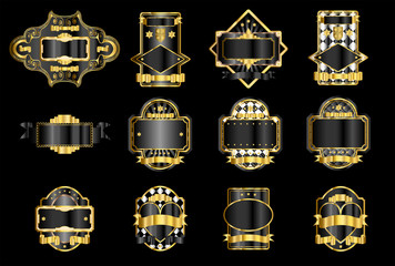 Black & Gold Lables