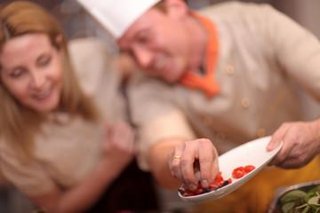 Tomaten in der Küche