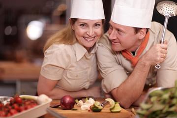 Teamwork in der Küche