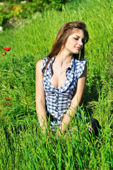 relax in spring field