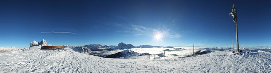 Panorama der Dolomiten Berge