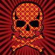 plaid skull vector
