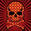 plaid skull vector