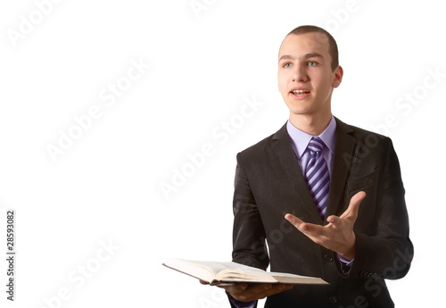 Young man preach the Gospel