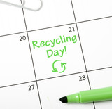 Calendar reminder, recycling day
