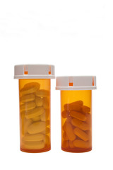 Two bottles of prescription medication
