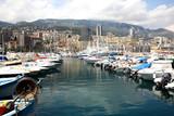 Scenic view of Monaco harbor, Monte Carlo poster