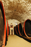 Barrels in a wine-cellar from Transylvania poster