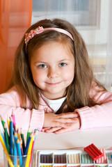 Portrait adorable little girl