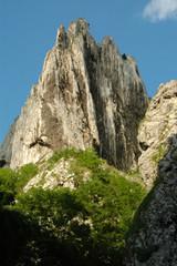 White cliffs in Turzii gorges, Transylvania, Romania