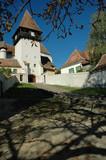 The fortified saxon church of Bazna. Transylvania, Romania poster