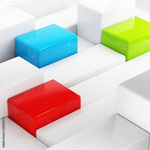 Abstraction cubes - 28602276