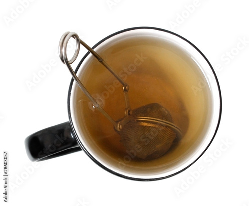 Brewing tea in a cup