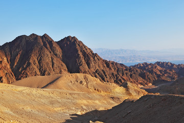 The ancient mountains of Sinai desert