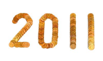 Число 2011 из монет