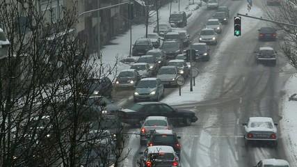 winter. chaos auf die strassen