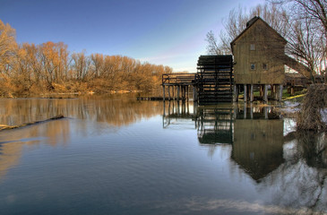 Wooden ancient Watermill