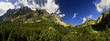 Mountain panorama with grass