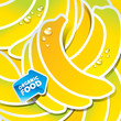 Background from bananas with an arrow by organic food