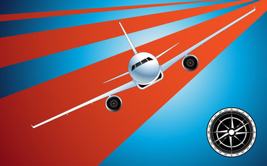 Plane vector illustration background