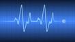 Leinwanddruck Bild - Herzfrequenz Herzschlag Kardio Cardio
