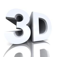 3D Kino Text - silber 01