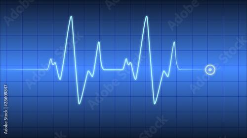 Leinwanddruck Bild Herzfrequenz Herzschlag Kardio Cardio