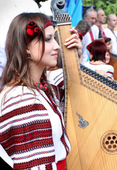 The Ukrainian girl with a bandura