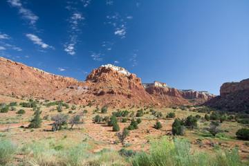 Sandstone Mesa Canyon Landscape Ghost Ranch Abiquiu New Mexico