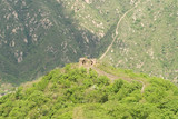 Mutianyu Great Wall on Mountain Top Off Into Distance poster