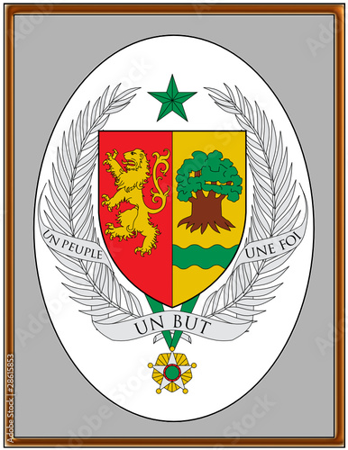 Senegal national emblem coat frame