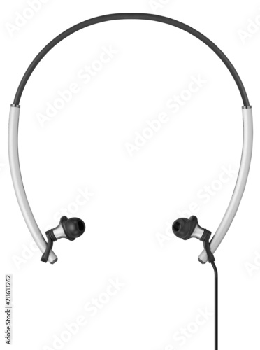 Modern Sport Headphones isolated on white background