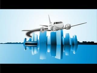 avion ciudad