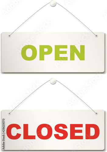 Open and closed door signs