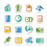 Mobile Phone Performance, Business and Office Icons