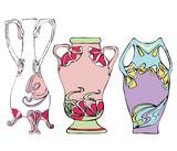 Set of Vases in Modernist Style poster