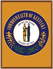 USA state kentucky seal emblem coat