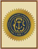 USA state rhode island providence plaantation seal emblem coat poster