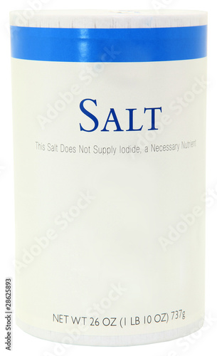 Bottle of Salt Blank Label Add Text